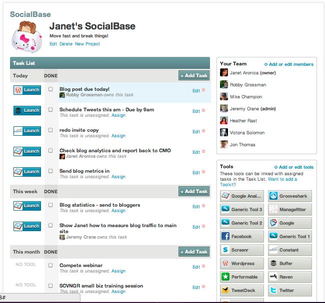 Herramienta social media SocialBase