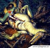 caballero derribando a un dragón