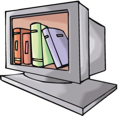 pc con libros