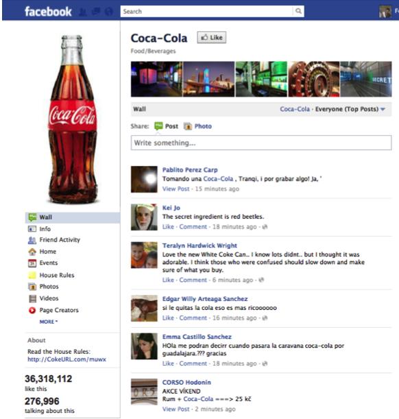 Facebook Coca cola
