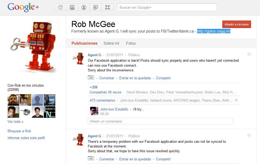 publicar simultaneamente en Facebook, Twitter y Google+