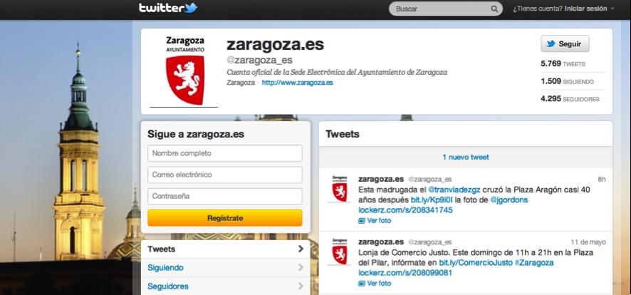 Twitter ayuntamiento Zaragoza