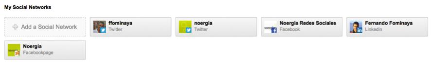 redes sociales conectadas a hootsuite