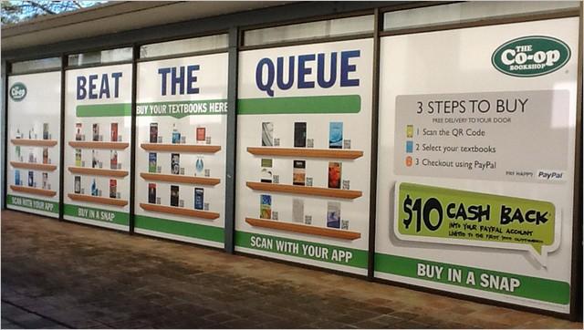 venta de libros en la calle con códigos qr