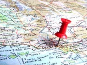 chincheta en mapa