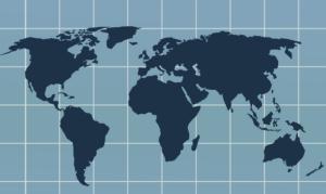 mapa mundi de internacionalización