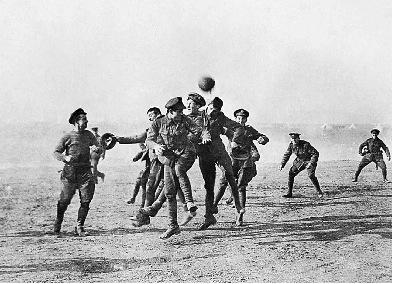 fútbol en la tregua de navidad 1914