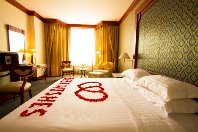 cama de un hotel encontrado por Google
