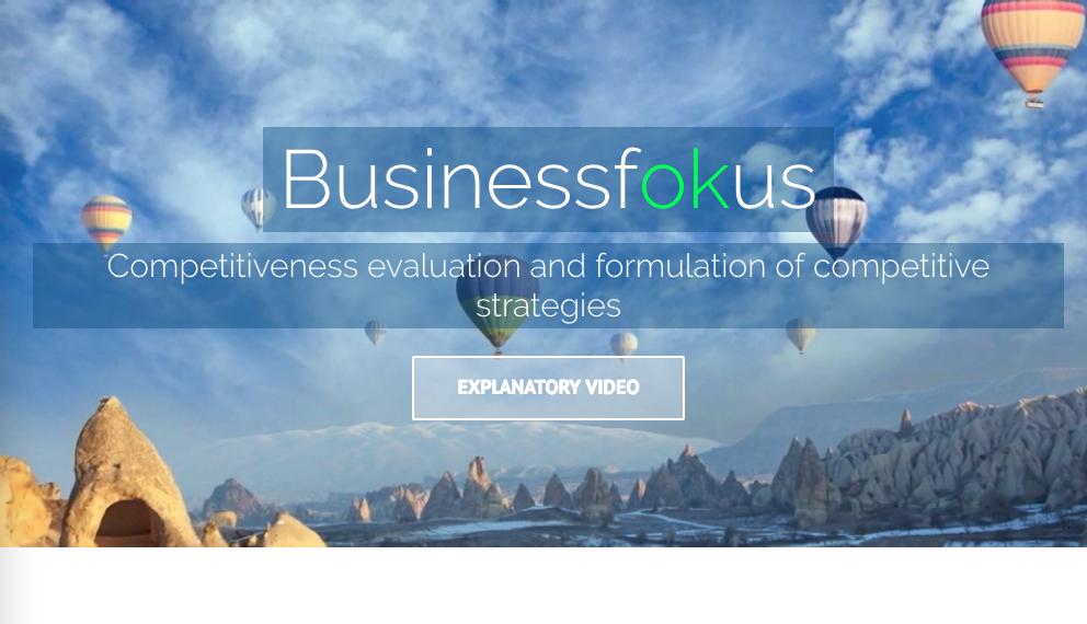 web de empresa con globos