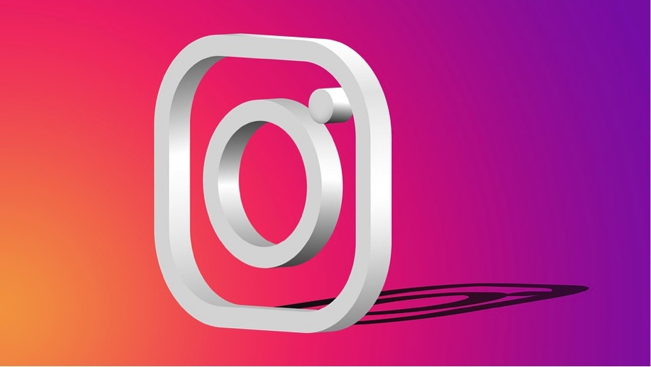 logo instagram 3d con sombra