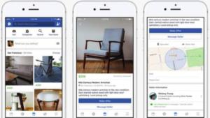ejemplo de Facebook Marketplace en el móvil