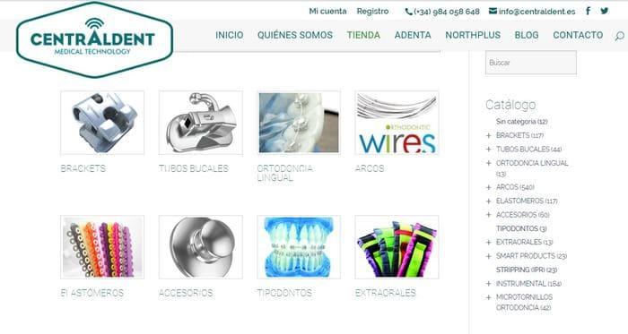 diseño de tienda online para ortodoncia
