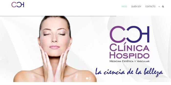 diseño de web de clínica de belleza