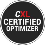 Noergia is certified as Conversion Optimizer by the CXL Institue