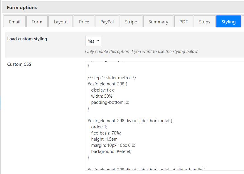 Personalización por CSS de EZ CALCULATOR