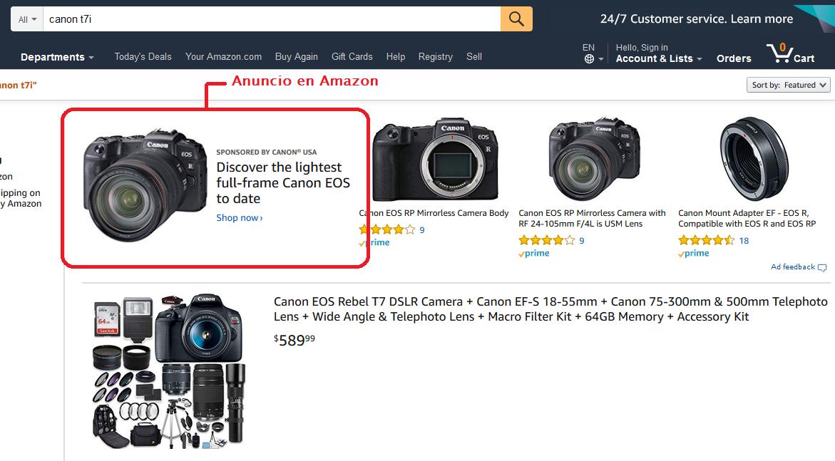anuncios en amazon para e-commerce