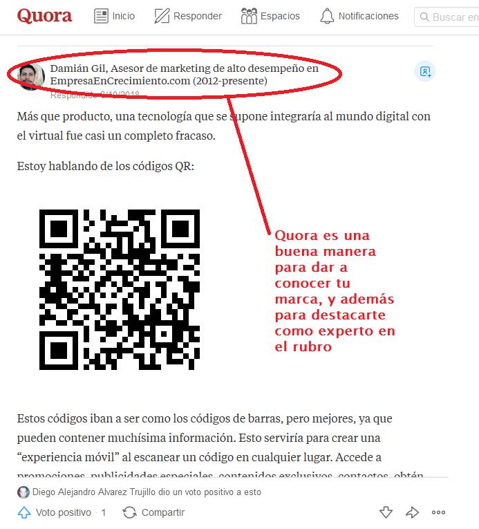 ejemplo de un emprendedor que genera tráfico en su web utilizando quora. puedes hacer lo mismo para internacionalizar tu e-commerce.