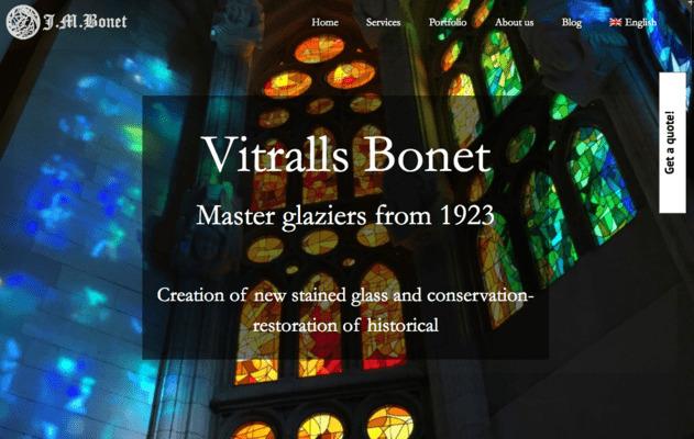 web artesano vitralista