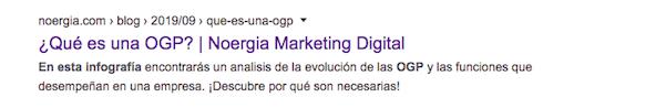 ejemplo de metaetiqueta en el blog de Noergia