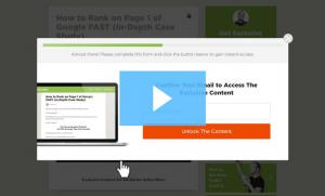Ejemplo de Padlock post para acceder a contenido adicional.