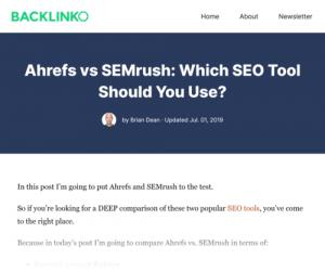 comparativa entre Ahrefs vs Semrush