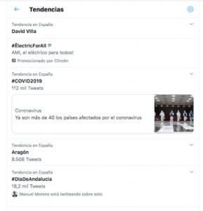 Trendic Topics en Twitter