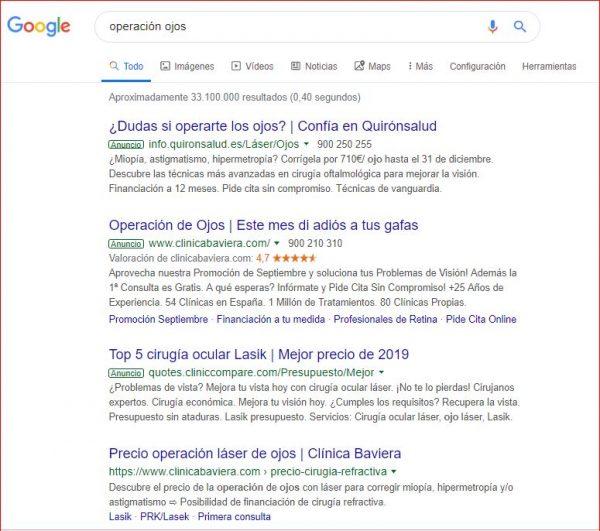 anunciar una consulta en google ads